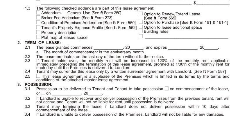California Commercial Lease Agreement - Gross Single Tenant