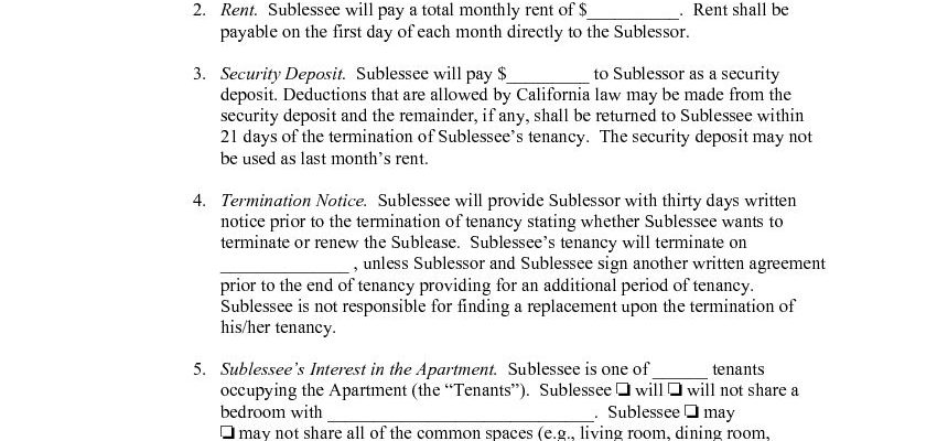 Free California Student Sublease Agreement | PDF | DOCX