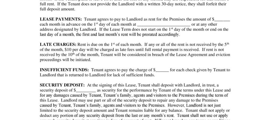 Free New York Month To Month Rental Lease Agreement Pdf Docx